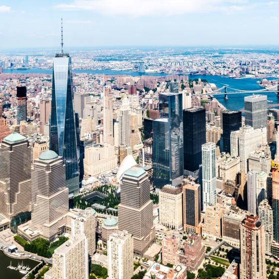 New York, vue d'hélicoptère