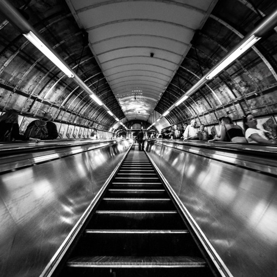 Escalator métro Londres