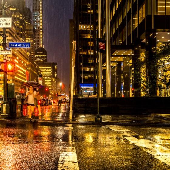 New York rain pluie