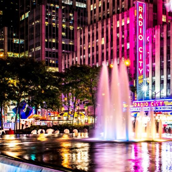 Fontaine New-York Radio City Music Hall